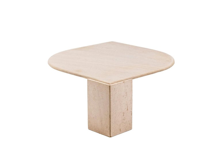 Coffee Table in Travertine, 1970s In Good Condition For Sale In Saint-Ouen, FR