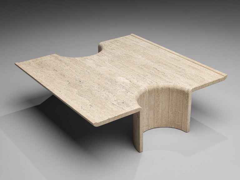 Coffee table, travertin, Europe, 1970s
