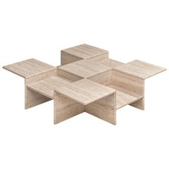 Coffee Table in Travertine, Italy, 1970s