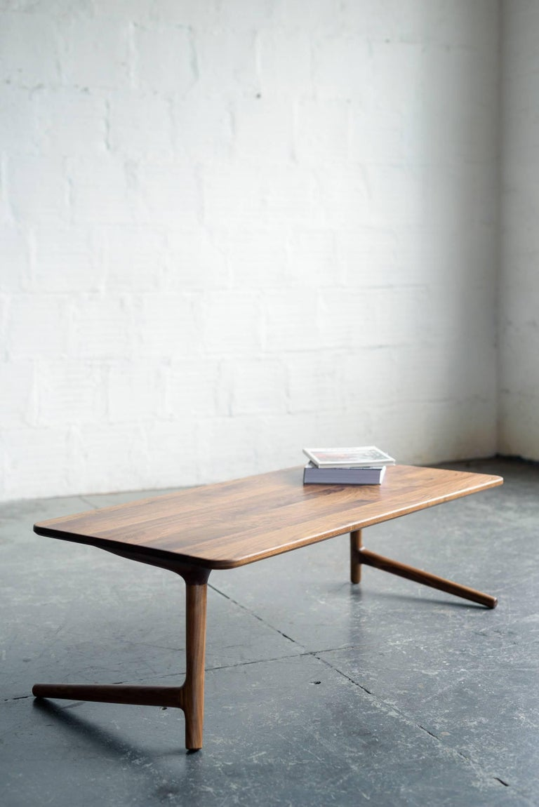 Minimal Coffee Table made from Walnut Wood, by Fernweh Woodworking For Sale 2