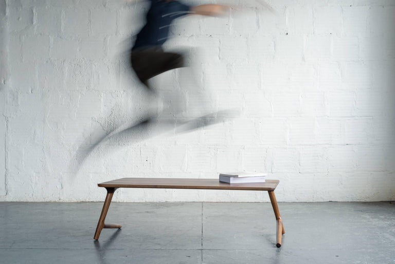 American Minimal Coffee Table made from Walnut Wood, by Fernweh Woodworking For Sale
