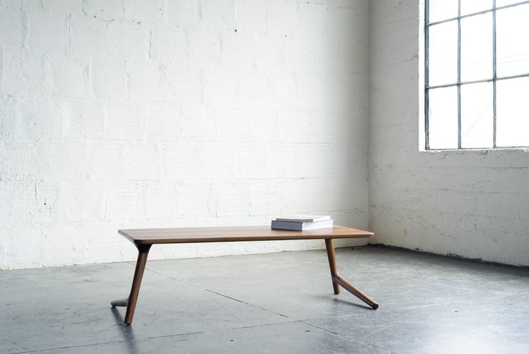 Hardwood Minimal Coffee Table made from Walnut Wood, by Fernweh Woodworking For Sale
