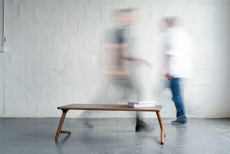 Minimal Coffee Table made from Walnut Wood, by Fernweh Woodworking For Sale 1