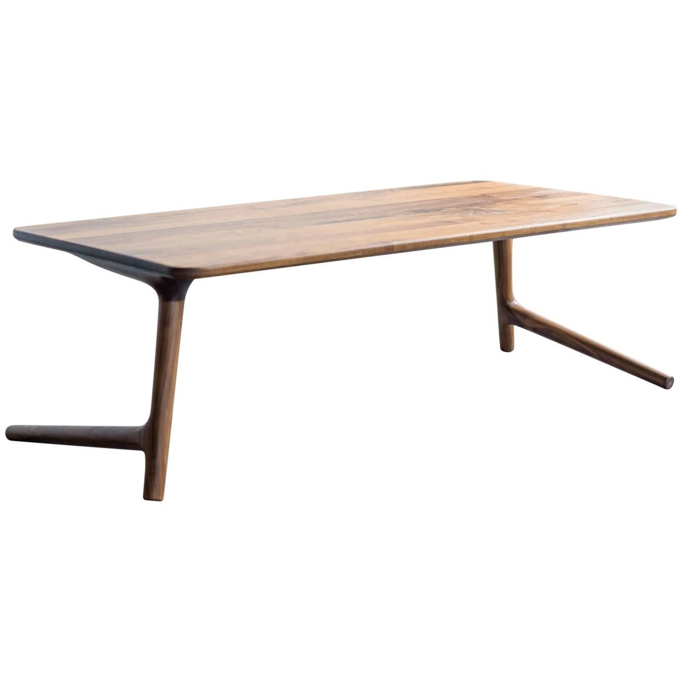 Minimal Coffee Table made from Walnut Wood, by Fernweh Woodworking
