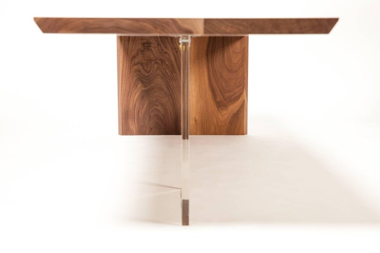 Wood Coffee Table by Rossi Studio For Sale