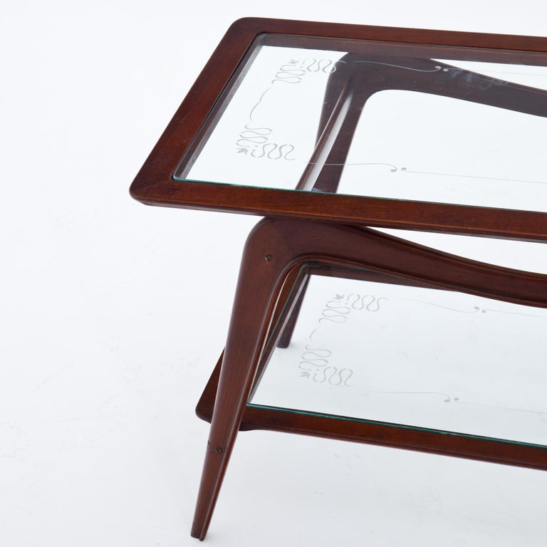Glass Coffee Table, Italy, 1940s For Sale