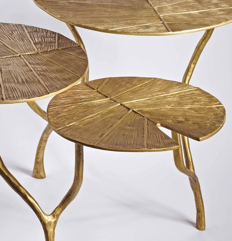 Modern Coffee Table Lotus Three Leaves For