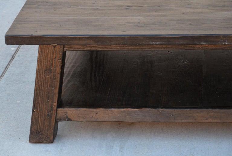 American Craftsman Coffee Table made from Reclaimed Pine For Sale