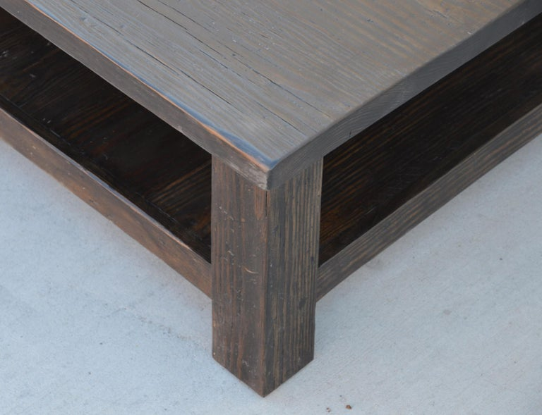 American Coffee Table made from Reclaimed Pine For Sale