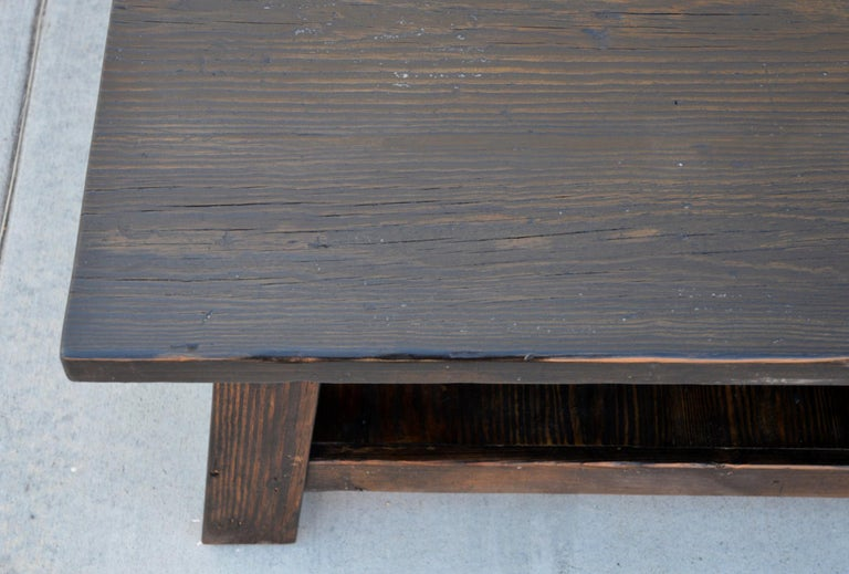 Hand-Crafted Coffee Table made from Reclaimed Pine For Sale