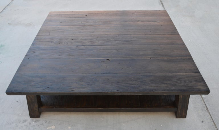 Coffee Table made from Reclaimed Pine In Excellent Condition For Sale In Los Angeles, CA
