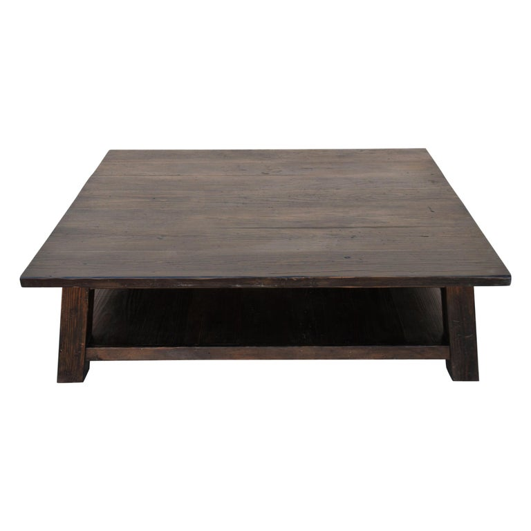 Coffee Table made from Reclaimed Pine For Sale