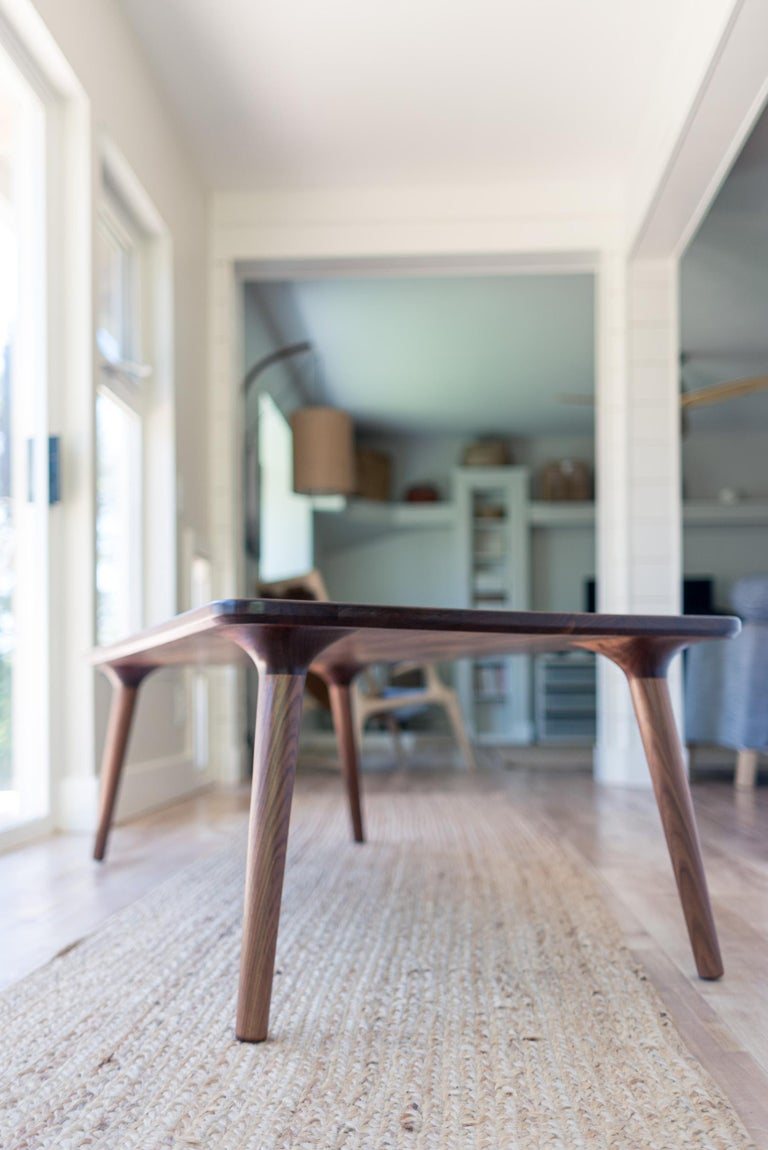 Mid-Century Modern Coffee Accent Table handmade from Walnut Wood, by Fernweh Woodworking For Sale