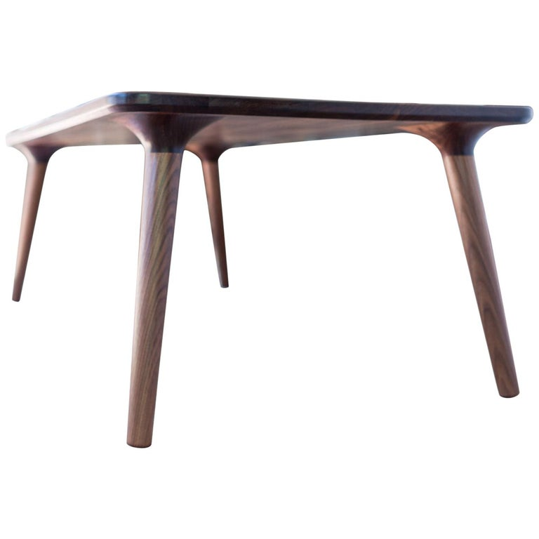 Coffee Accent Table handmade from Walnut Wood, by Fernweh Woodworking For Sale