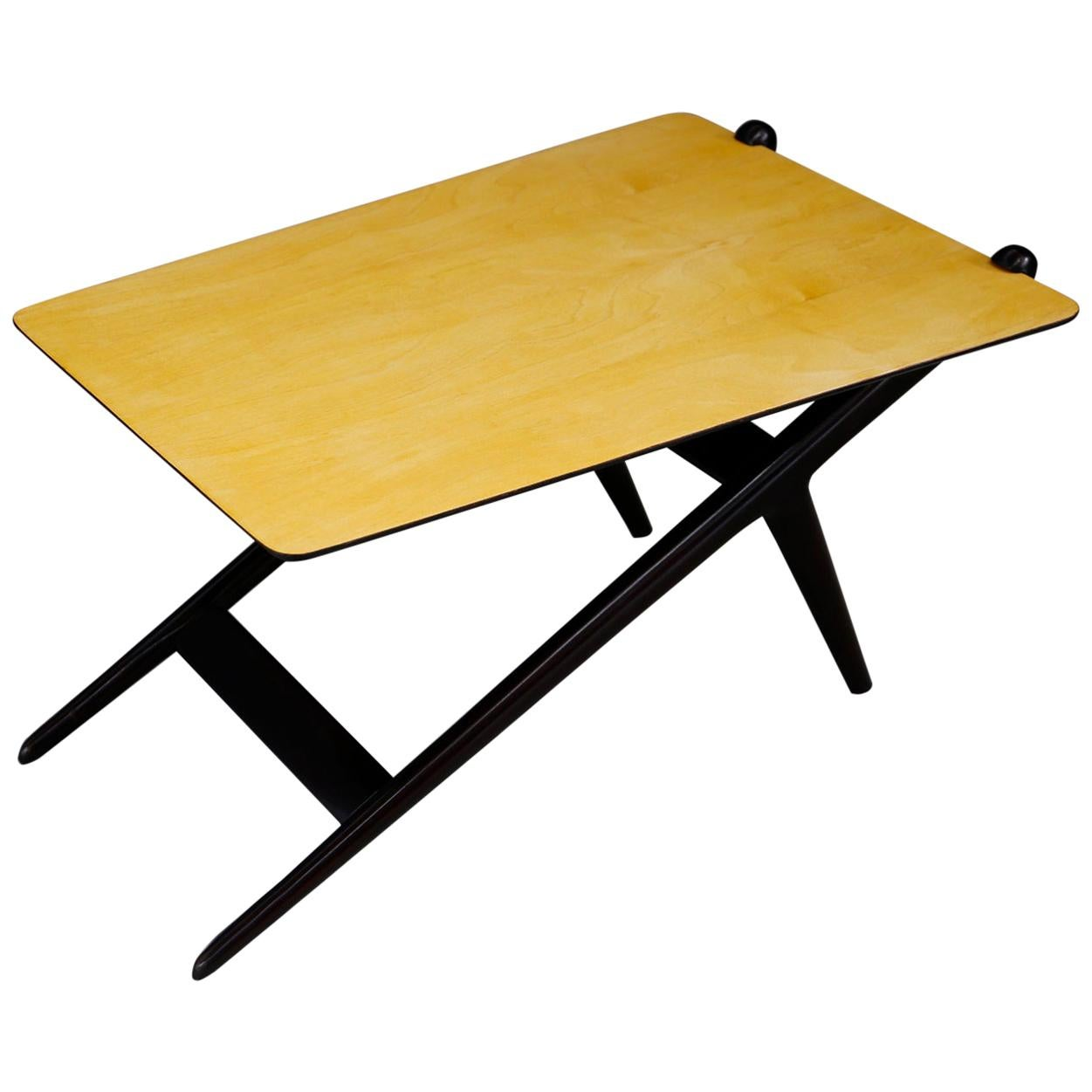 Coffee Table Midcentury by Isa Bergamo in Wood Ebonized, 1950s