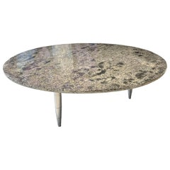 "Coffee Table ""Moon light"", Melted Pewter, Pewter Coral, Crystal Resin"