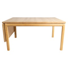 Coffee Table of Beech Wood and with Extension Leaf of Danish Design by Rubby