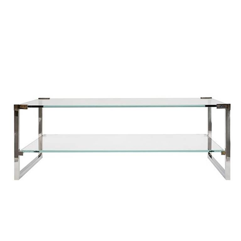 Coffee Table Pioneer T53D Stainless Steel Gloss, Aluminium Gloss, Minimal Style