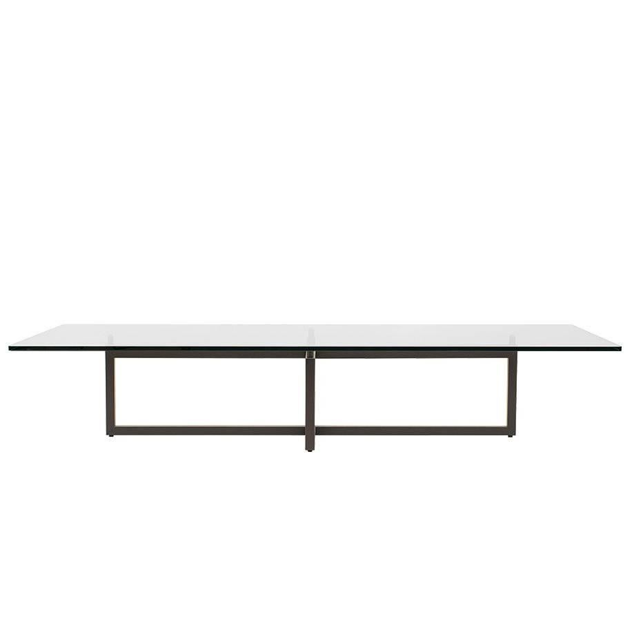 Coffee Table Pivot T48 Ristretto Frame And Details, Glass, Minimalist Style  For Sale