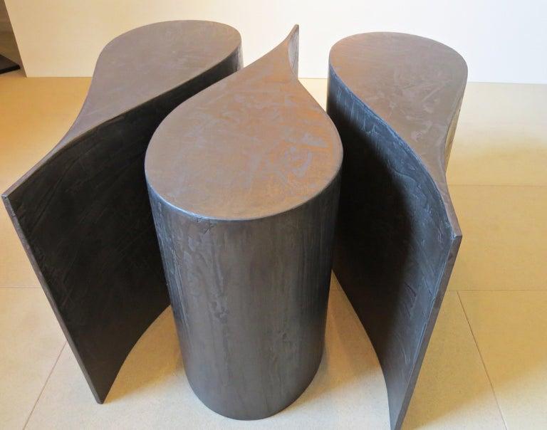 Kaffeetisch, Sperrholz Beschichtetes Titan, Extrem Leicht, Drei Teile, Set 5