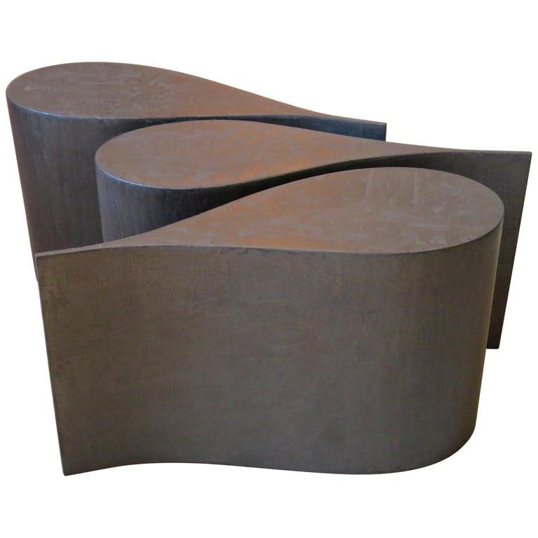 Kaffeetisch, Sperrholz Beschichtetes Titan, Extrem Leicht, Drei Teile, Set 1