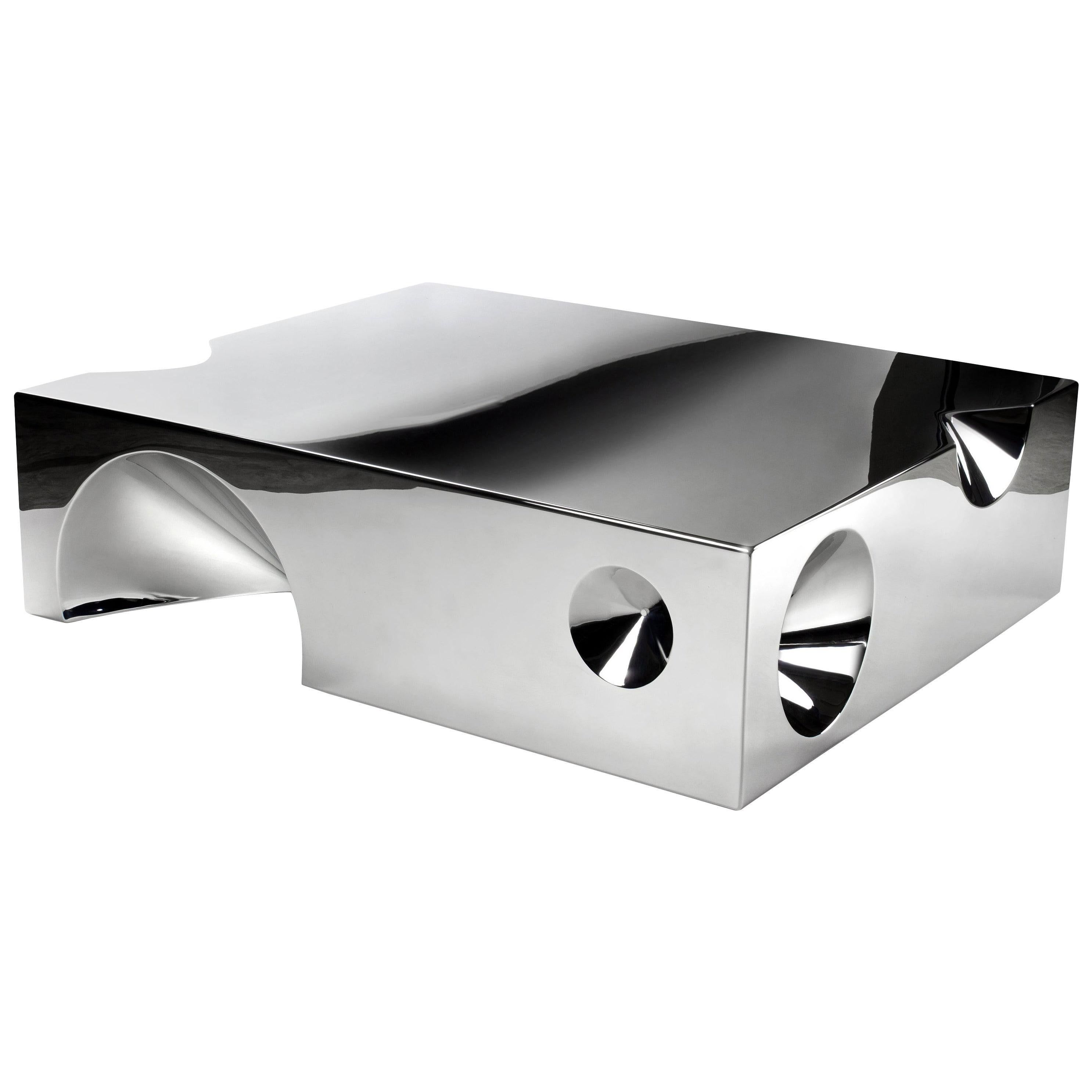 Coffee Table Sculpture Steel Italian Limited Edition Contemporary Design