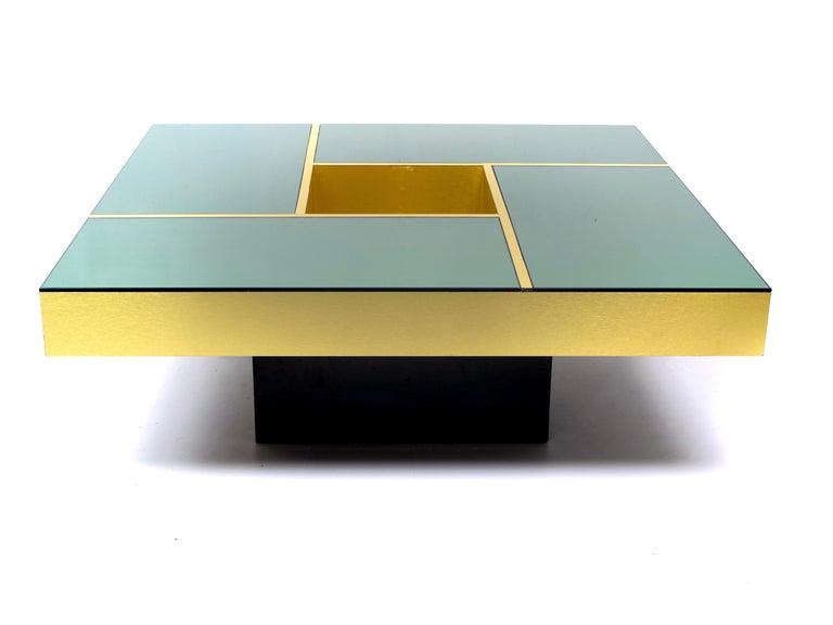 Mid-Century Modern Coffee Table 'Shilling' by Giovanni Ausenda & Guido Baldi Grossi, Italy, 1970s For Sale