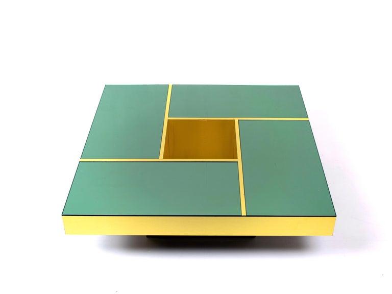 Glass Coffee Table 'Shilling' by Giovanni Ausenda & Guido Baldi Grossi, Italy, 1970s For Sale