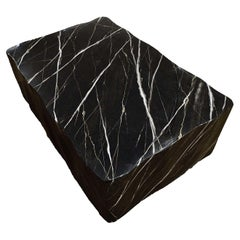Coffee Table with Black Marble Effect