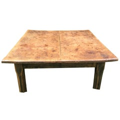 Coffee Table with Black Painted Base