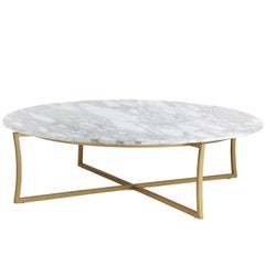 Coffee Table with Calacatta Marble