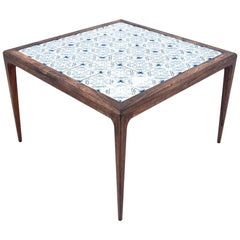Coffee Table with Ceramic Tiles, Danish Design, 1960s