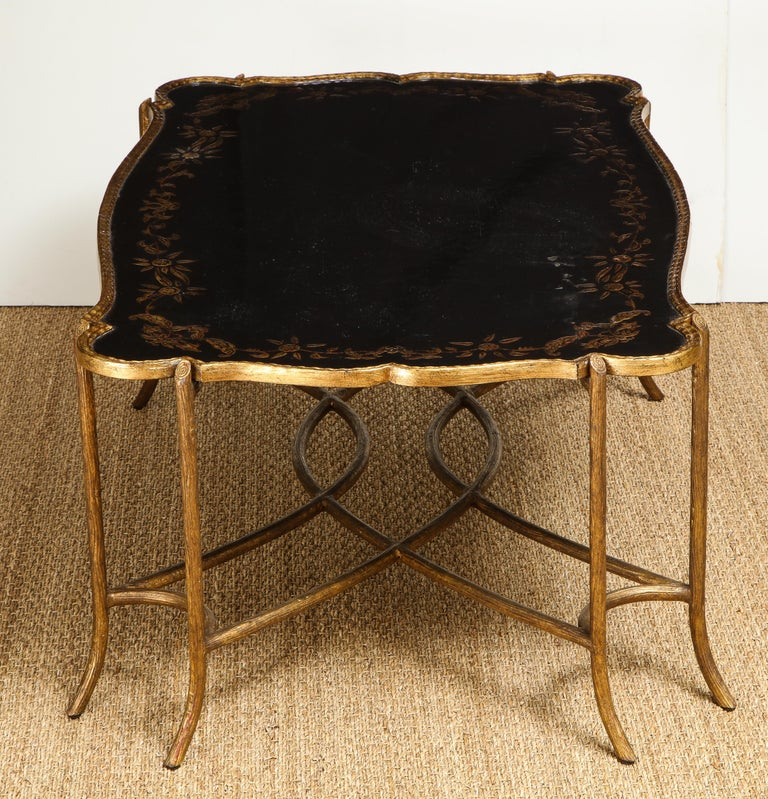 Coffee Table with Chinoiserie Top For Sale 4