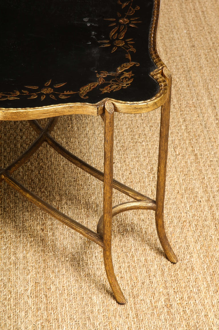 Coffee Table with Chinoiserie Top For Sale 5