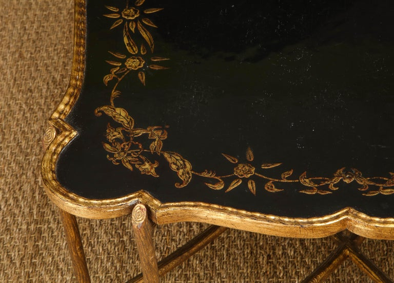 Coffee Table with Chinoiserie Top For Sale 6