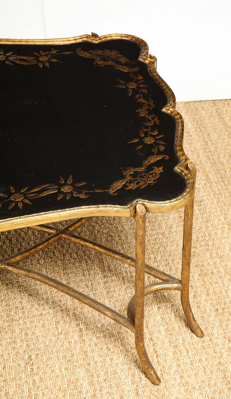 Unknown Coffee Table with Chinoiserie Top For Sale