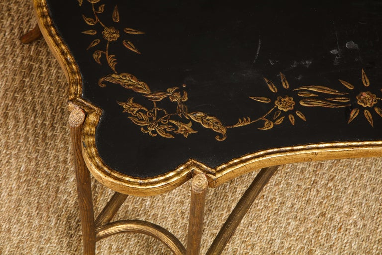 Coffee Table with Chinoiserie Top For Sale 2