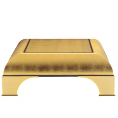 Coffee Table with Gold Leaf