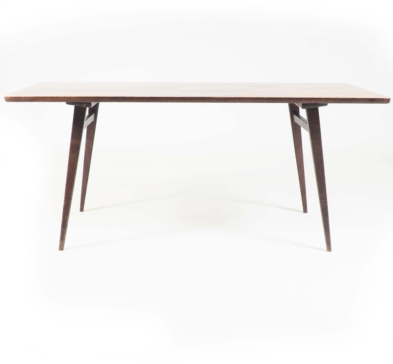 Mid-20th Century Coffee Table with Inlaid Wood from Sweden, 1950s For Sale