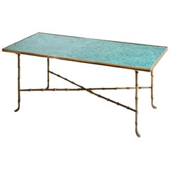 Coffee Table with Malachite Top, Italy, 20th Century