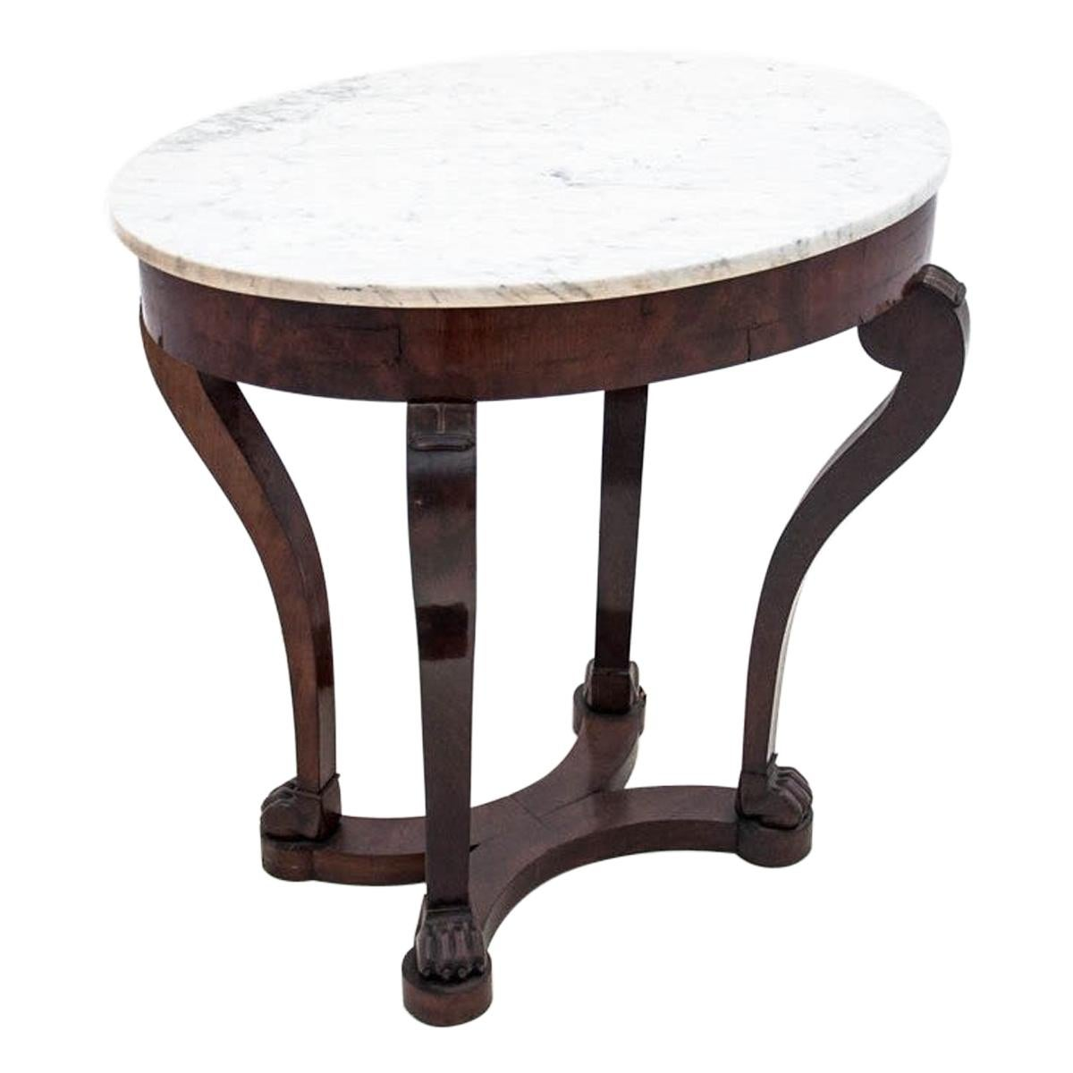 Coffee Table with Marble Top, France, circa 1910