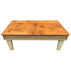 Coffee Table with Ochre Painted Base