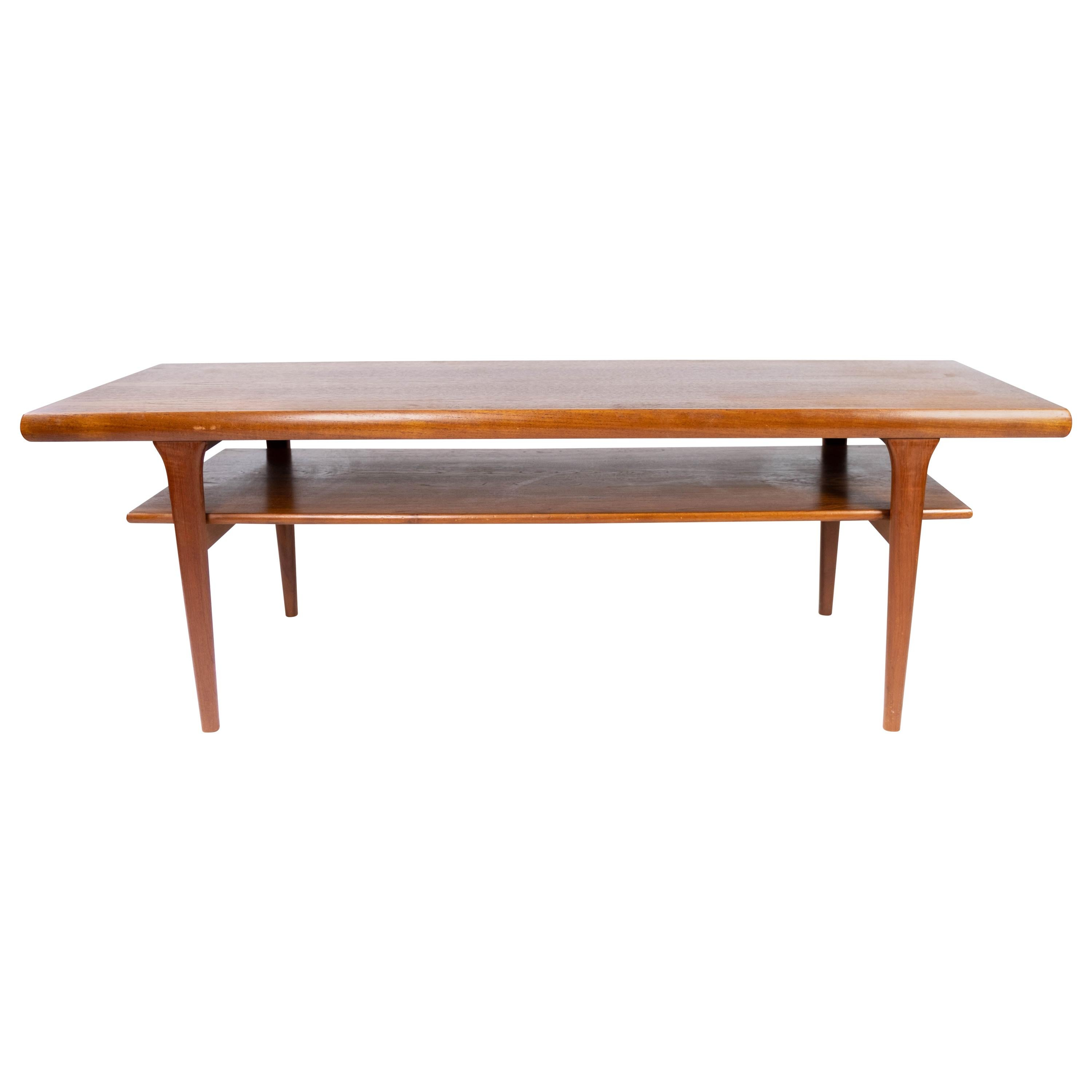 Coffee Table with Shelf in Teak of Danish Design from the 1960s