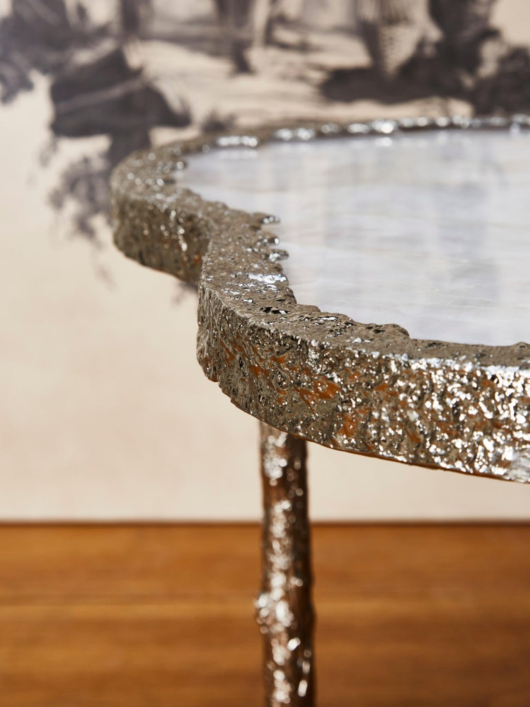 Mid-Century Modern Coffee Tables in Rock Crystal by Studio Glustin For Sale