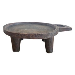 African Carved Wooden Coffee Tray from the Gurage Zone in Ethiopia