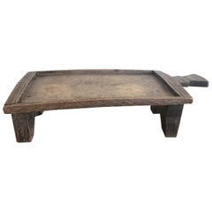 Carved Wooden Coffee Tray from the Kaffa Region of Ethiopia in Africa