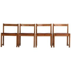 Coganc Leather Pine Chair Ate Van Apeldoorn 1960s