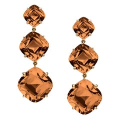 Cognac Cushion Earrings
