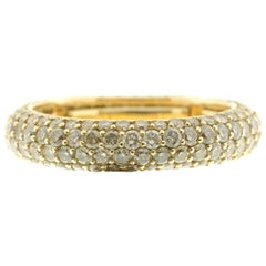 Cognac Diamond and Yellow Gold Eternity Ring, Multi-Size