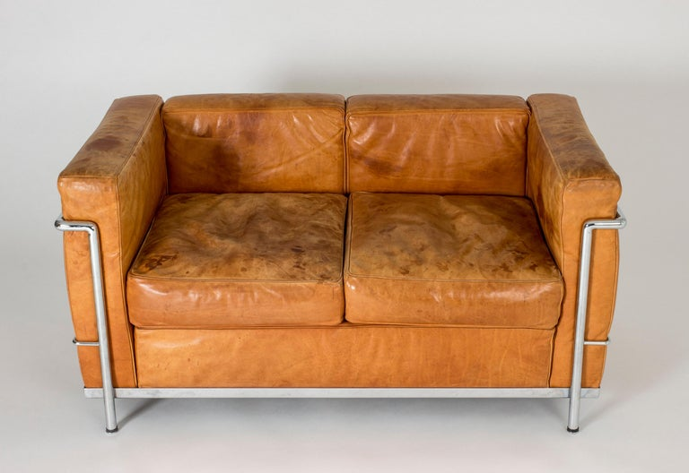 Early 20th Century Cognac leather